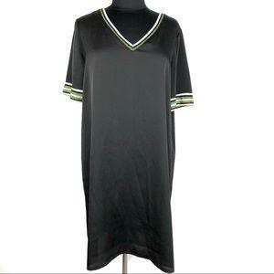 Scotch & Soda Black Sporty V Neck Shirt Dress
